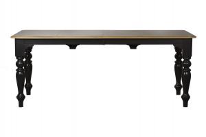 Стол обеденный раскладной черный