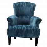 Кресло бирюзовое бархатное