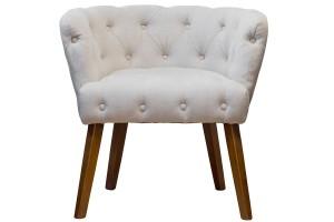 Кресло светло-бежевое-велюровое