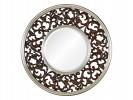Bergamo А88027-1 темный орех в серебряном обрамлении