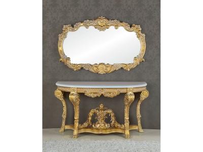 Консоль А89003-1 Richard золото с белым напылением