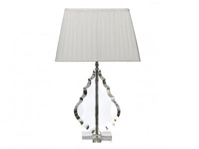 Лампа настольная хрустальная с белым плафоном