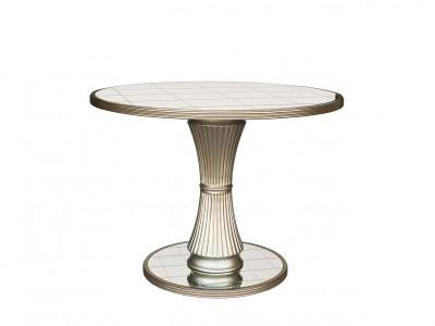Стол обеденный с зеркальным покрытием