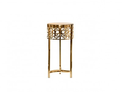 Журнальный стол круглый золотой