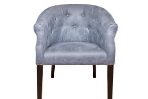 Кресло низкое синее