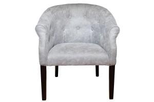 Кресло низкое серое