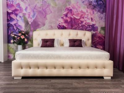 Кровать «Диана» с валиком и каретной стяжкой