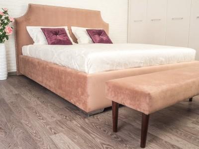 Кровать Аннет с гладким центром