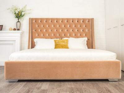 Кровать «Тиффани» с Л-обр ухом и каретной стяжкой