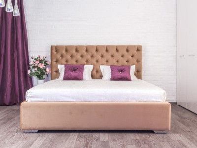 Кровать «Барри» с каретной стяжкой без опор