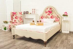 Кровать «Луиза» с гладким центром + 2 опоры