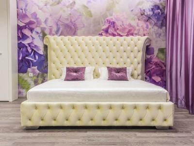 Кровать «Шарллот» с каретной стяжкой без опор
