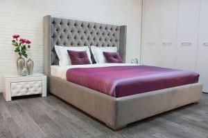 Кровать «Тиффани» с Г-обр ухом и каретной стяжкой