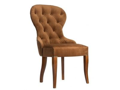 Дизайнерский стул с каретной стяжкой на спинке и с гвоздиками S01