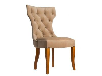 Дизайнерский стул с каретной стяжкой на спинке и с гвоздиками S02