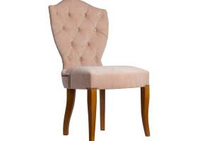 Дизайнерский стул с каретной стяжкой на спинке и с гвоздиками S03
