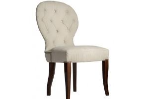 Дизайнерский стул с каретной стяжкой на спинке и с гвоздиками S04