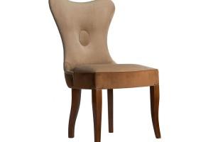 Дизайнерский стул с каретной стяжкой на спинке и с гвоздиками S05