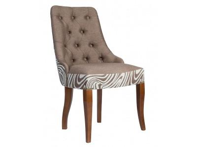 Дизайнерский стул с каретной стяжкой на спинке и с гвоздиками S06