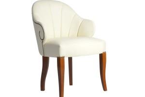 Дизайнерский стул с каретной стяжкой на спинке и с гвоздиками S07