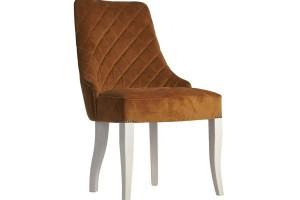Дизайнерский стул с каретной стяжкой на спинке и с гвоздиками S08