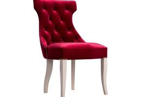 Дизайнерский стул с каретной стяжкой на спинке и с гвоздиками S09