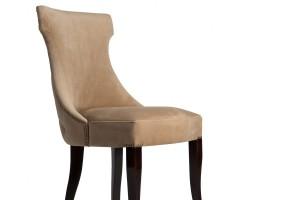 Дизайнерский стул с каретной стяжкой на спинке и с гвоздиками S10