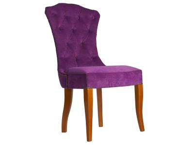 Дизайнерский стул с каретной стяжкой на спинке и с гвоздиками S11